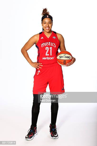 Tianna Hawkins of the Washington Mystics poses for a portrait during Media Day on May 14 2016 at Verizon Center in Washington DC NOTE TO USER User...