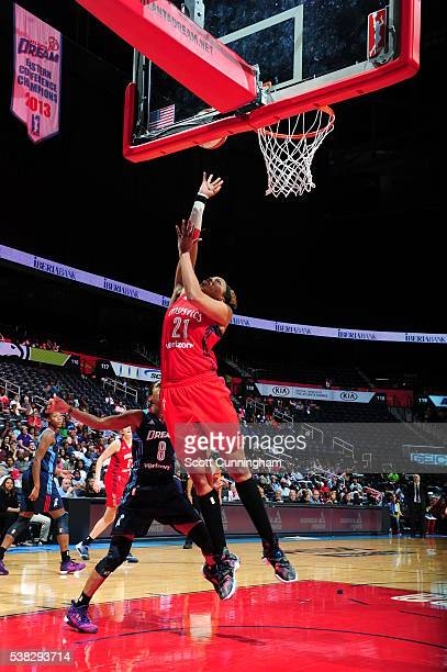 Tianna Hawkins of the Washington Mystics shoots the ball against the Atlanta Dream on June 5 2016 at Philips Arena in Atlanta Georgia NOTE TO USER...