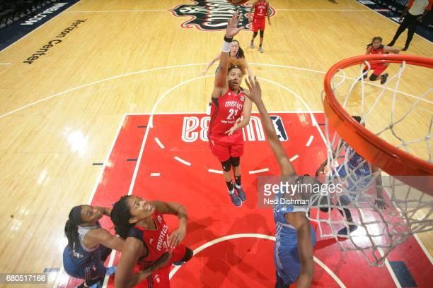 Tianna Hawkins of the Washington Mystics shoots the ball against the Minnesota Lynx on May 8 2017 at Verizon Center in Washington DC NOTE TO USER...