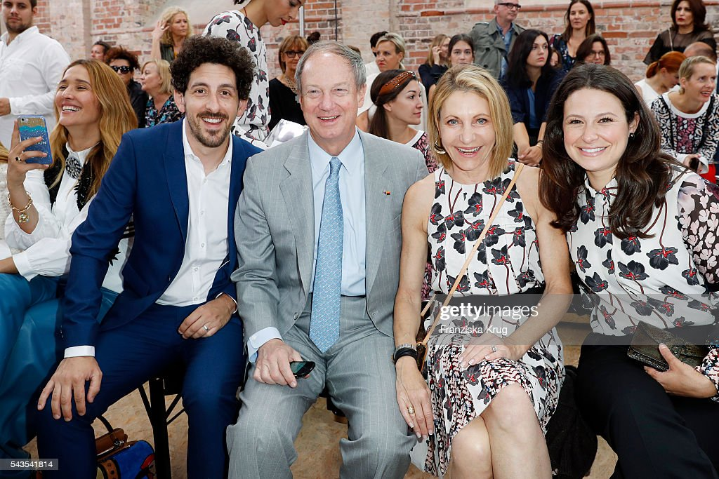 Tiany Tiriloff, Adam Shapiro, John Emerson, Kimberly Emerson and Katie Lowes attend the Dorothee Schumacher show during the Mercedes-Benz Fashion Week Berlin Spring/Summer 2017 at Elisabethkirche on June 29, 2016 in Berlin, Germany.