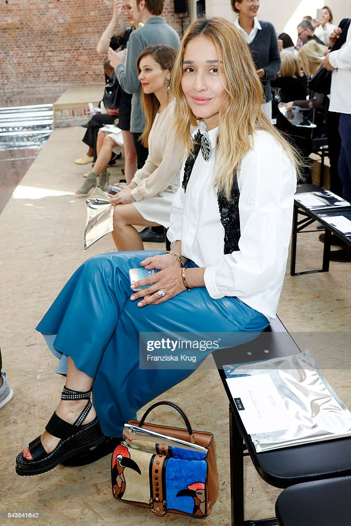 Tiany Tiriloff attends the Dorothee Schumacher show during the Mercedes-Benz Fashion Week Berlin Spring/Summer 2017 at Elisabethkirche on June 29, 2016 in Berlin, Germany.