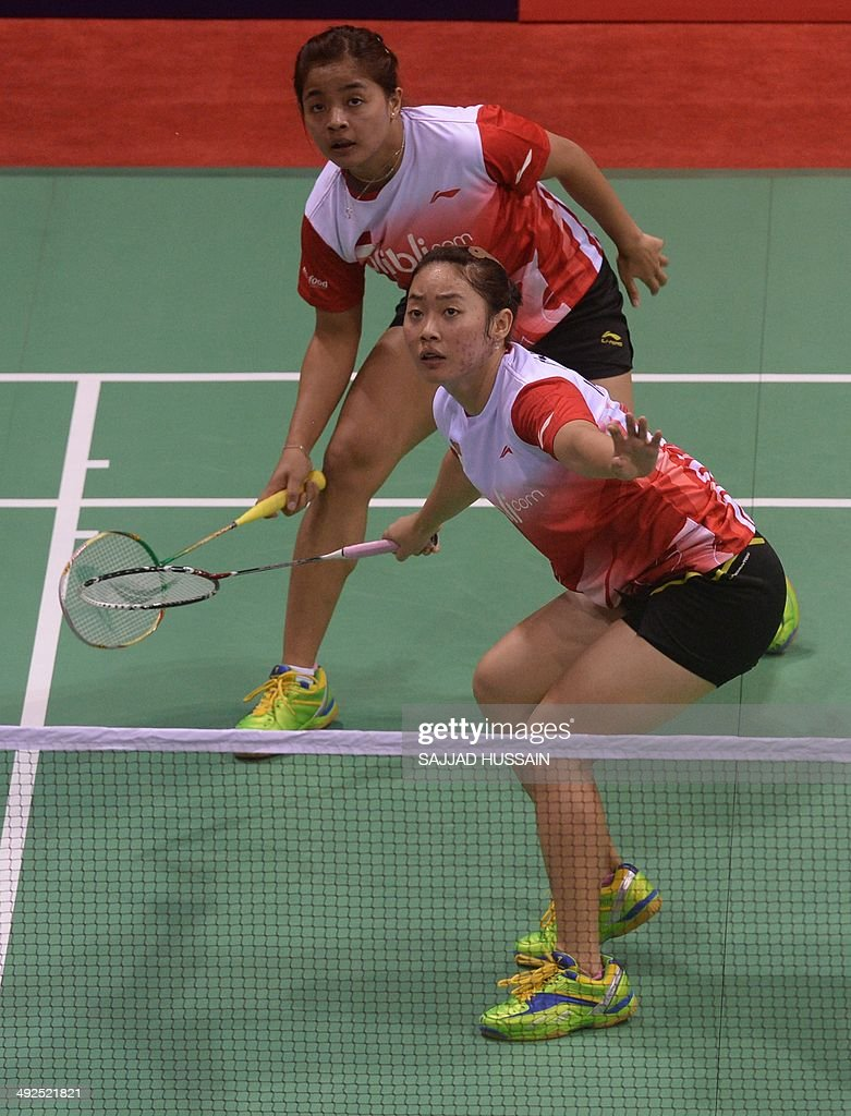 Tiara Rosalia Nuraidah FRONT and Suci Rizky Andini of Indonesia
