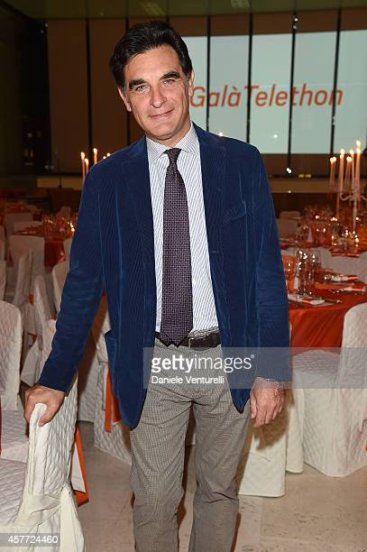 Tiberio Timperi attends Gala Telethon during the 9th Rome Film Festival at Auditorium Parco Della Musica on October 23 2014 in Rome Italy