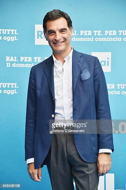 Tiberio Timperi attends Rai Show Schedule Presentation In Milan on June 28 2016 in Milan Italy