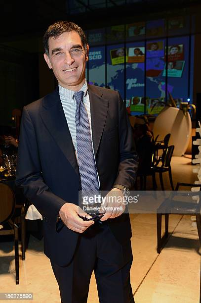 Tiberio Timperi attends the 2012 Telethon Gala during the 7th Rome Film Festival at Open Colonna on November 12 2012 in Rome Italy