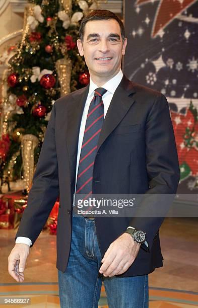 Tiberio Timperi attends the Italian TV program '2009 Horoscope' by Paolo Fox at RAI studios on December 16 2009 in Rome Italy