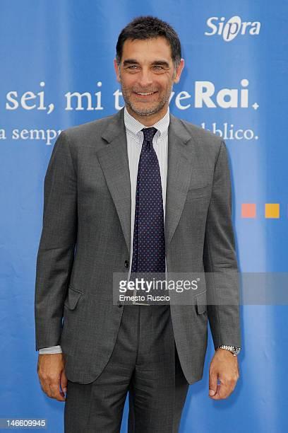 Tiberio Timperi attends the Palinsesti Rai photocall at Cavalieri Hilton Hotel on June 20 2012 in Rome Italy