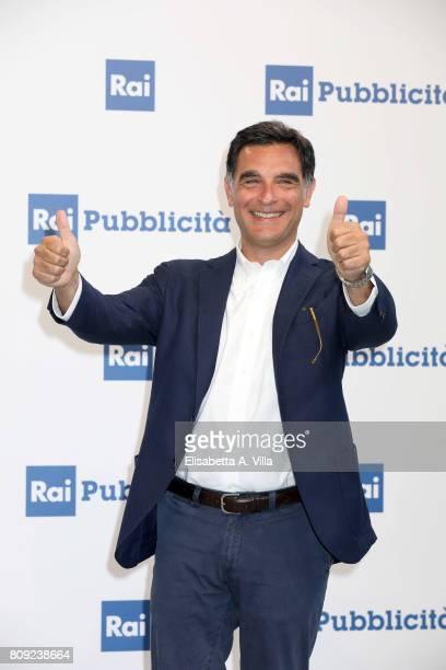 Tiberio Timperi attends the Rai Show Schedule Presentation In Rome on July 4 2017 in Rome Italy