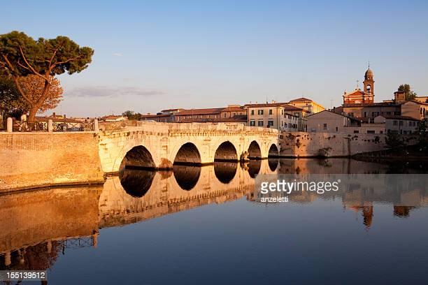 Tiberius bridge in Rimini, Italy