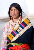 Tibet Pilgrim Woman Traditional in Tibet.