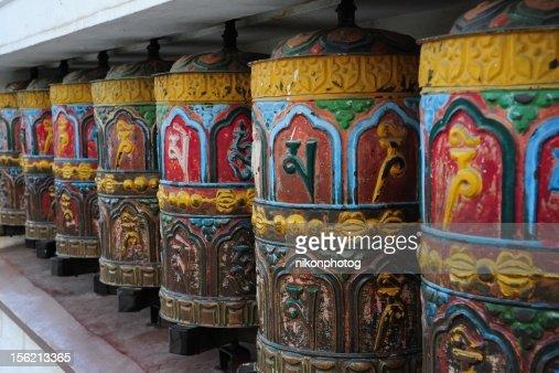 Tibetal Prayer Wheels : Stock Photo