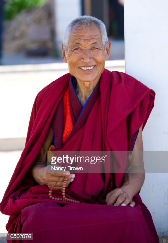 Tibetan Buddhist Monk in Gansu Province China. : Foto de stock