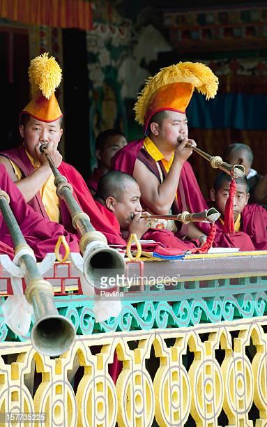 Tibetan Buddhist Monks during Festival Sikkim
