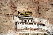 Tibetan Buddhist temple on the cliff