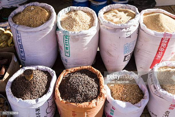 Tibetan grains on Shigatse market
