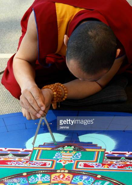 Tibetan Monk Creating Mandala