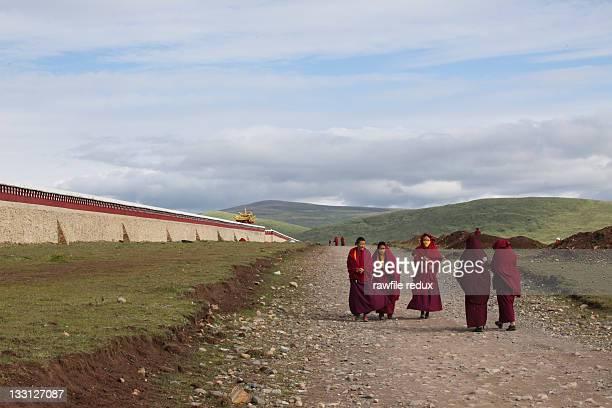 Tibetan Nuns walking