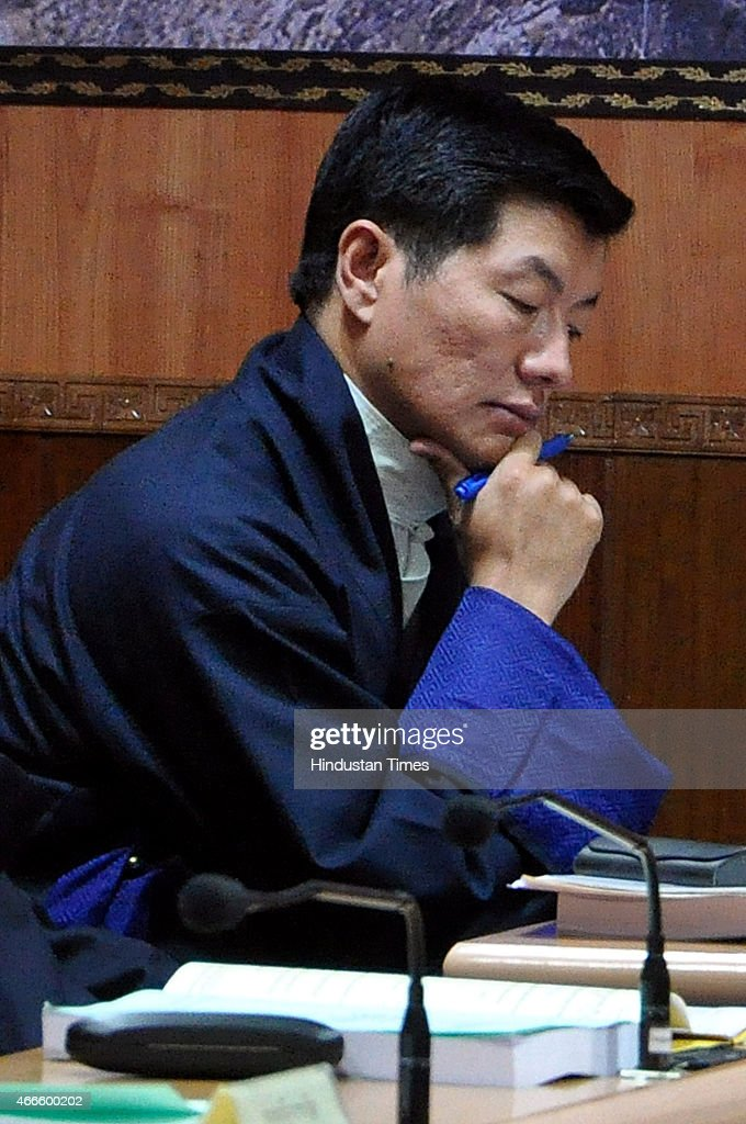 Tibetan Prime Minister in-exile, <a gi-track='captionPersonalityLinkClicked' href=/galleries/search?phrase=Lobsang+Sangay&family=editorial&specificpeople=7725923 ng-click='$event.stopPropagation()'>Lobsang Sangay</a> attending the 9th session of the 15th Tibetan Parliament-in-Exile on March 17, 2015 in Dharamsala, India. If the proposed amendments get a nod of the majority of the House, the number of seats in the Tibetan Parliament-in-exile will go upto 47 from existing 44.