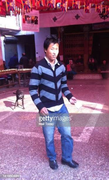 Tibetan protestor who selfimmolates at a protest in New Delhi India ahead of Chinese President Hu Jintao's visit to the country Monday March 26 2012...