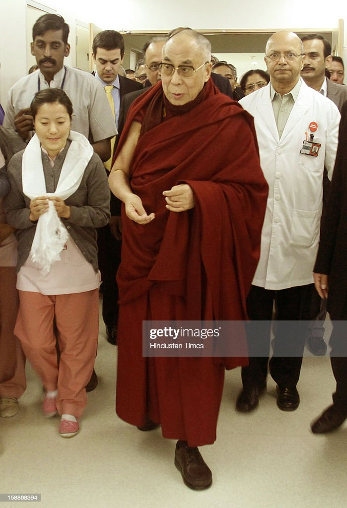 Tibetan spiritual leader Dalai Lama inaugurated the state-of-the-art gastro-intestinal endoscopy department at Medanta, The Medicity hospital on January 1, 2013 in Gurgaon, India. He said that a healthy mind is a healthy body.