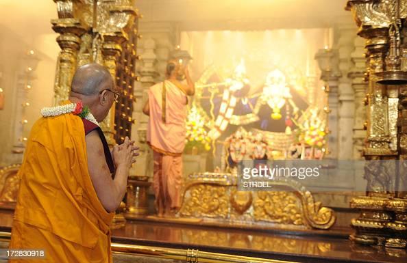 Tibetan spiritual leader The Dalai Lama prays at the ISKCON temple in Bangalore on July 5 on the eve of his 78th birthday The Tibetan spiritual...