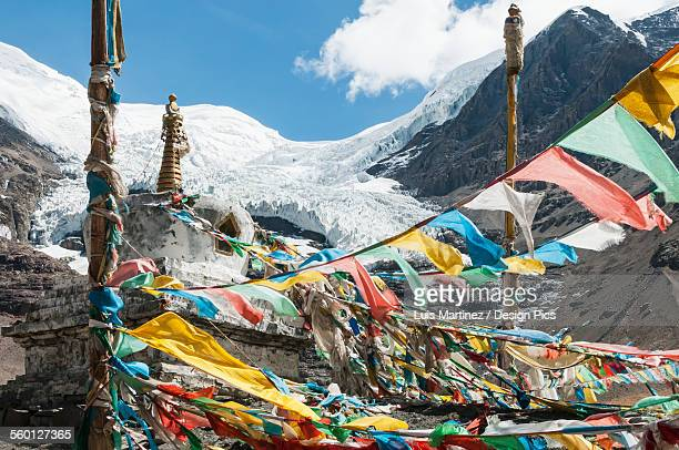 Tibetan Stupa in Kharola Glacier, Tibetan Friendship Highway