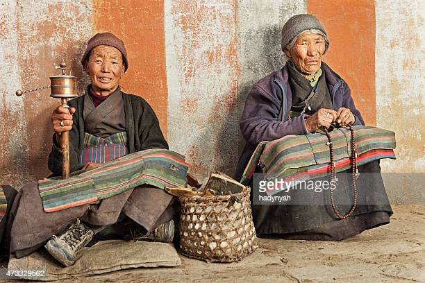 Tibetan women praying in Upper Mustang.