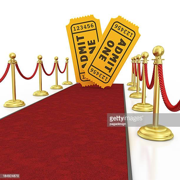ticets and red carpet