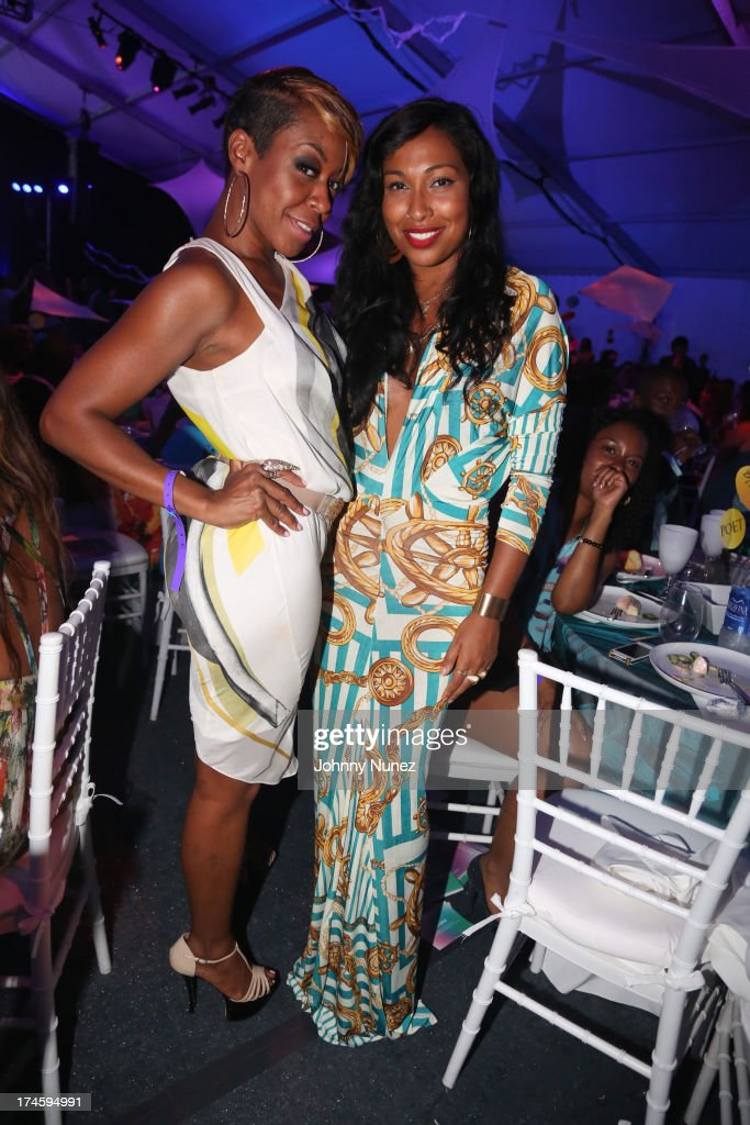 Tichina Arnold and Melanie Fiona attend the 14th Annual Art For Life Gala A Field Of Dreams at Fairview Farms on July 27 2013 in Bridgehampton New...