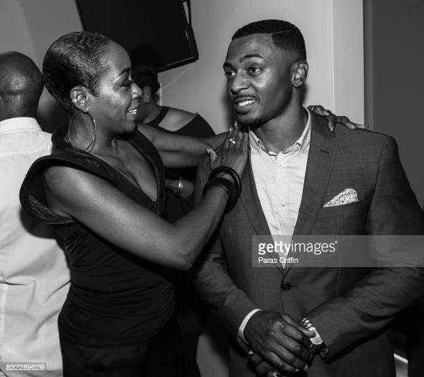 Tichina Arnold and RonReaco Lee at 'Survivor's Remorse' Season 4 Celebration and RonReaco Lee's Kontrol Homme Cover Release Party at The Marke on...
