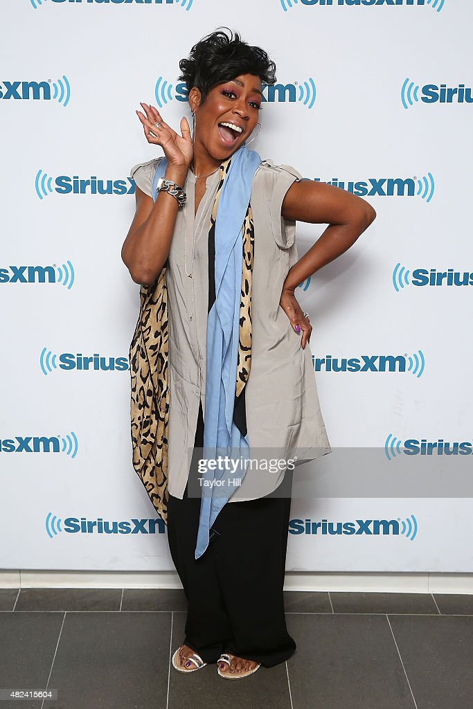 Tichina Arnold visits the SiriusXM Studios on July 30, 2015 in New York City.