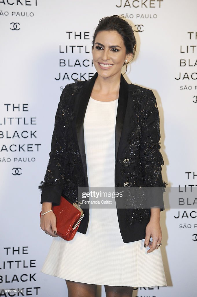 Ticiana Villas Boas attends the Chanel Little Black Jacket event on October 29, 2013 in Sao Paulo, Brazil.