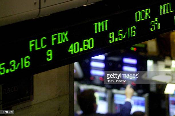 A ticker at the New York Stock Exchange shows a mix of decimal and fraction prices August 29 2000 in New York Thirteen stocks at the NYSE and the...