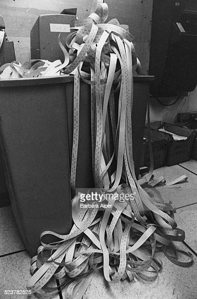 Ticker tape at the New York Stock Exchange New York City USA 2nd June 1981