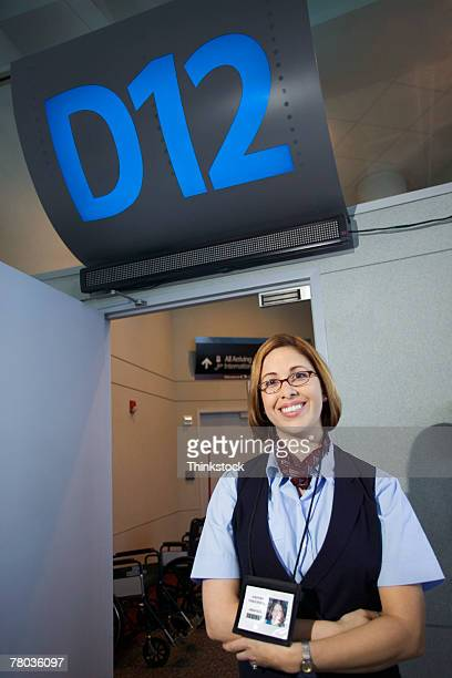 Ticket agent in airport