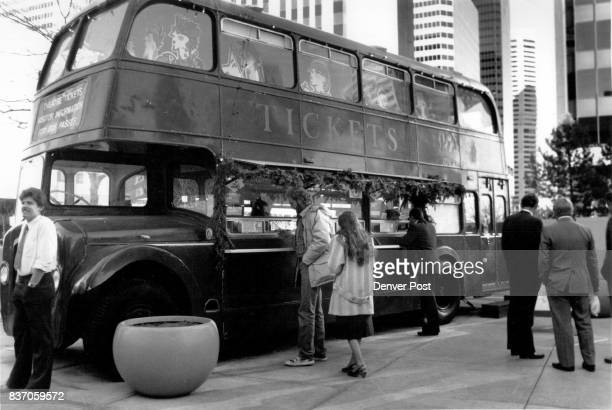 Ticket Bus at the corner of 16th and Curtis Credit The Denver Post