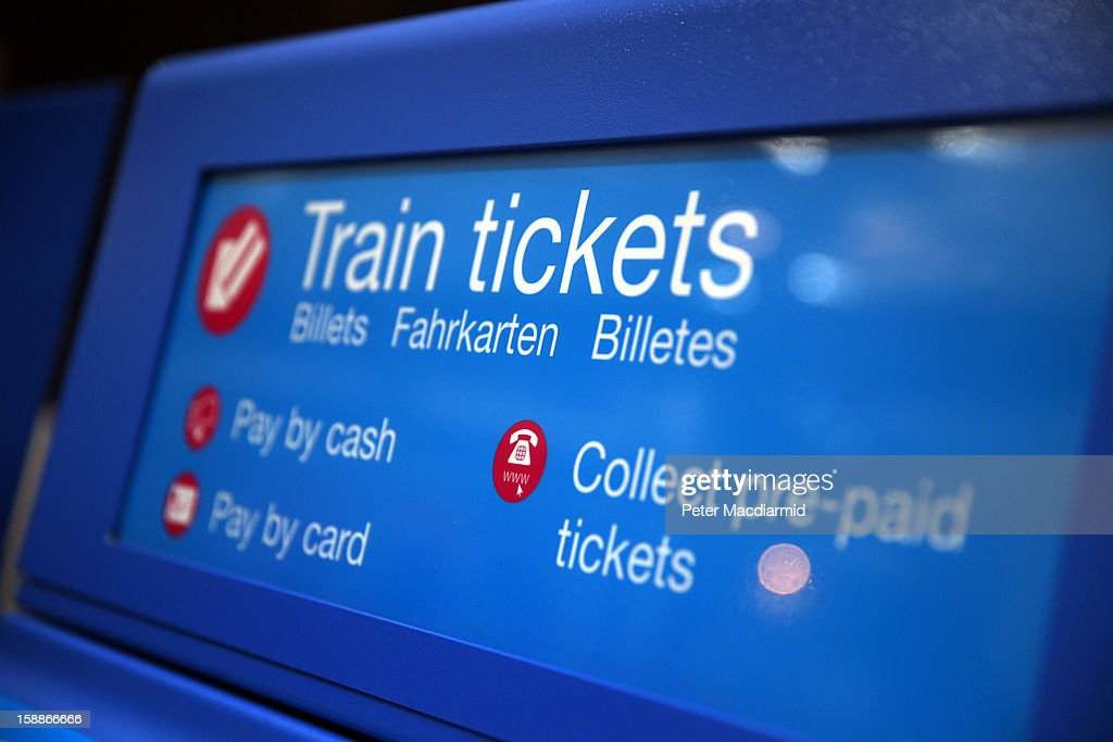 A ticket machine at Kings Cross station is seen on January 2, 2013 in London, England. Rail fares have today risen by an average of 4.2% in England, Scotland and Wales, the tenth year in a row that fares have increased above inflation.