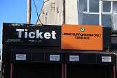 Ticket office at Rodney Parade the home stadium of Newport County