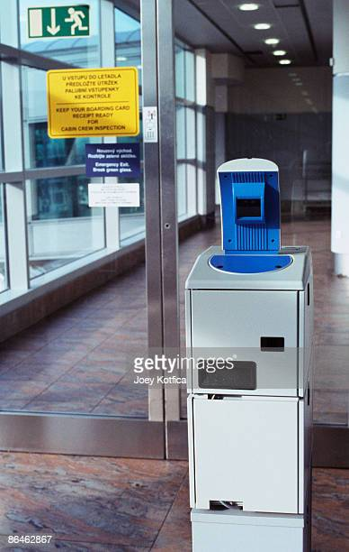 Ticket scanner in airport
