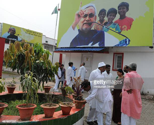 Ticket seekers at JD office ahead of the upcoming Bihar Elections on September 10 2015 in Patna Bihar India Bihar will go for a fivephased election...
