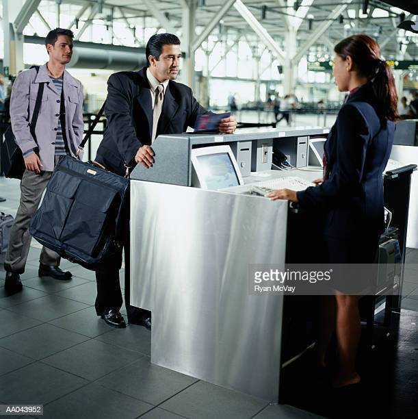 Ticketing counter at airport