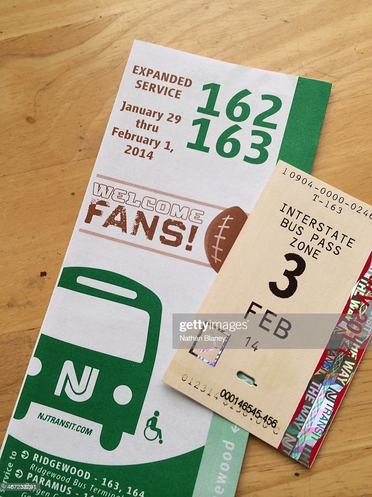 Tickets and bus schedule for the super bowl