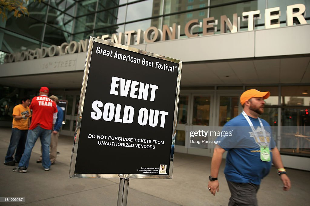 Tickets sold out in the first 20 minutes of online sales for the 32nd annual Great American Beer Festival at the Colorado Convention Center on October 10, 2013 in Denver, Colorado. The GABF runs October 10-12 and 49,000 attendees will be offered 3100 beers from 624 breweries.