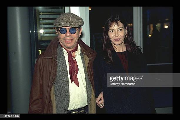 Ticky Holgado and his wife at the UGC Cine Cite Bercy