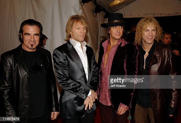 Tico Torres David Bryan Richie Sambora and Jon Bon Jovi of Bon Jovi