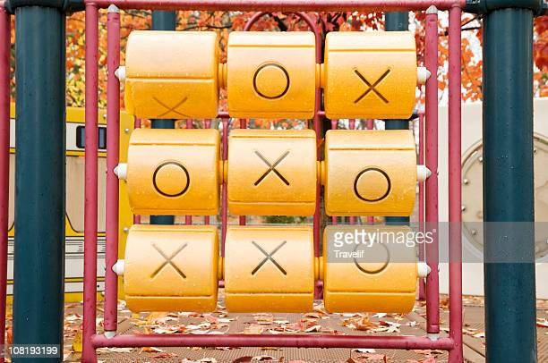 Tic-tac-toe at the playground