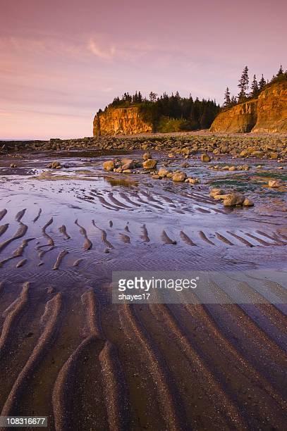 Tidal cliffs sunset