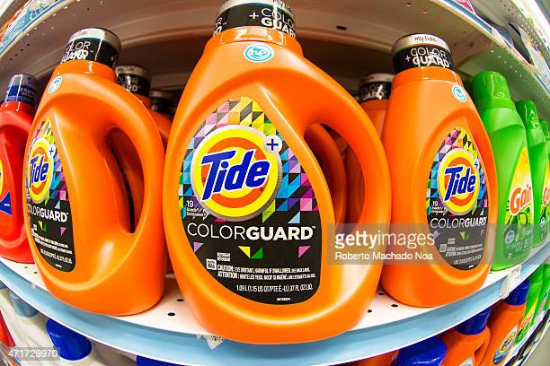 Tide laundry detergent in store shelfTide is the brandname of a laundry detergent manufactured by Procter Gamble first introduced in 1946
