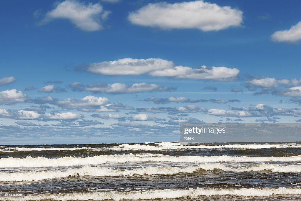 Tide on beach : Stock Photo