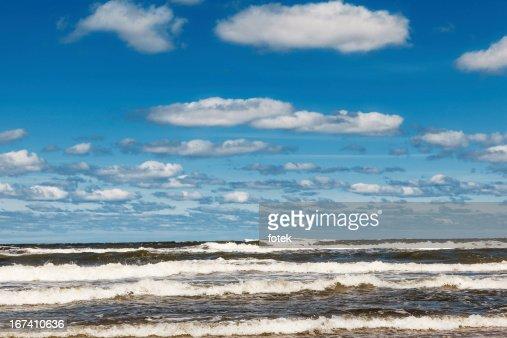Tide on beach : Stock Photo